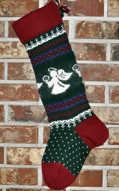 Angel Knit Christmas Stocking