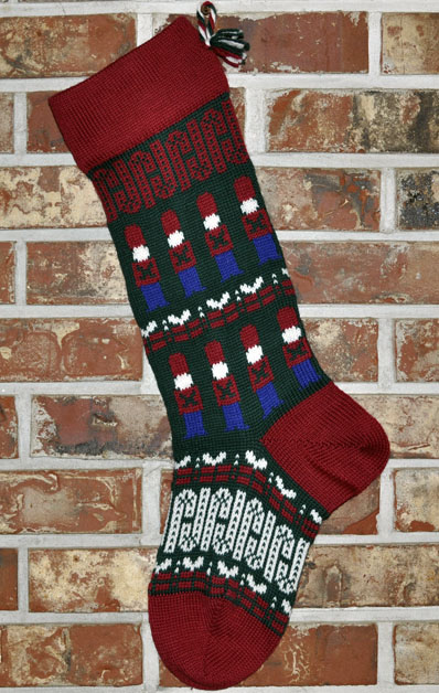 Soldier Knit Christmas Stocking